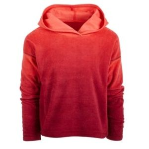 Red Ombre Fleece Pullover